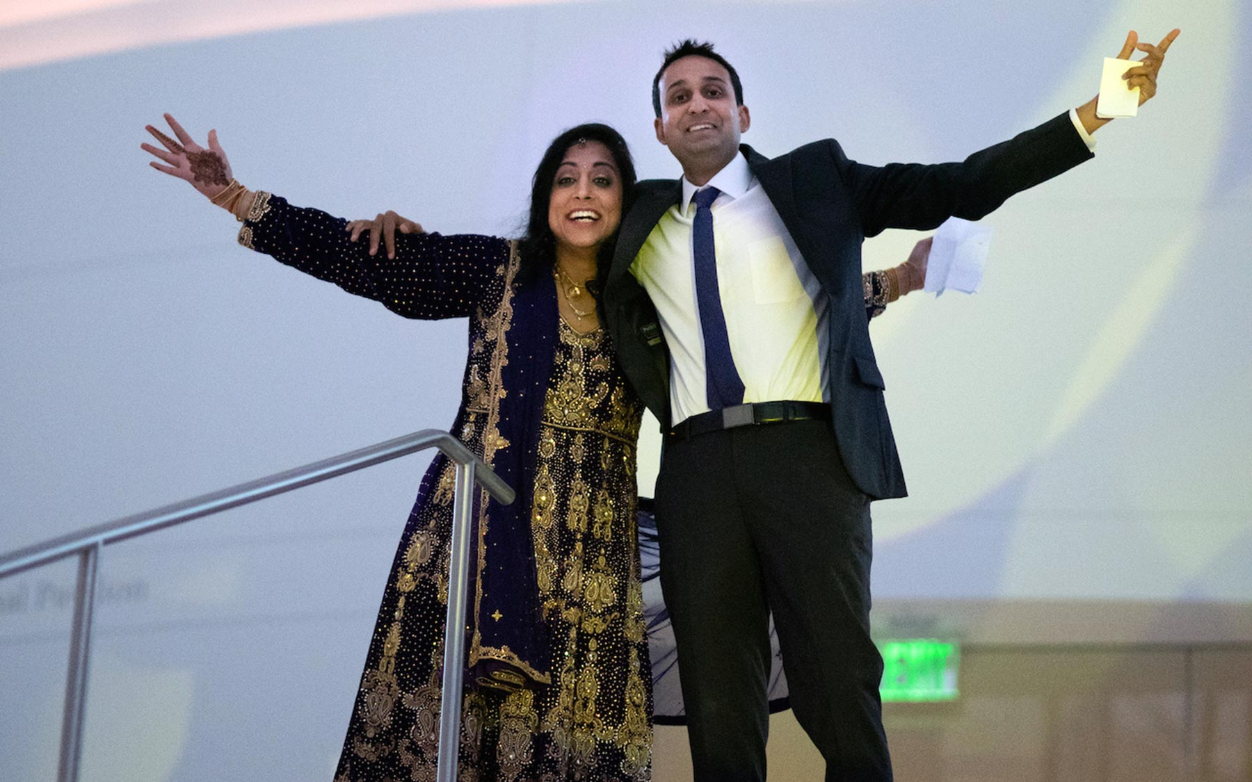photo of Dr. Sejal Morjaria and Saket Navlakha