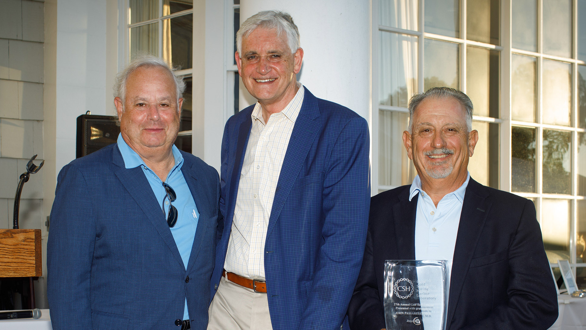 photo of Eddie Chernoff, Bruce Stillman, and John Passarelli