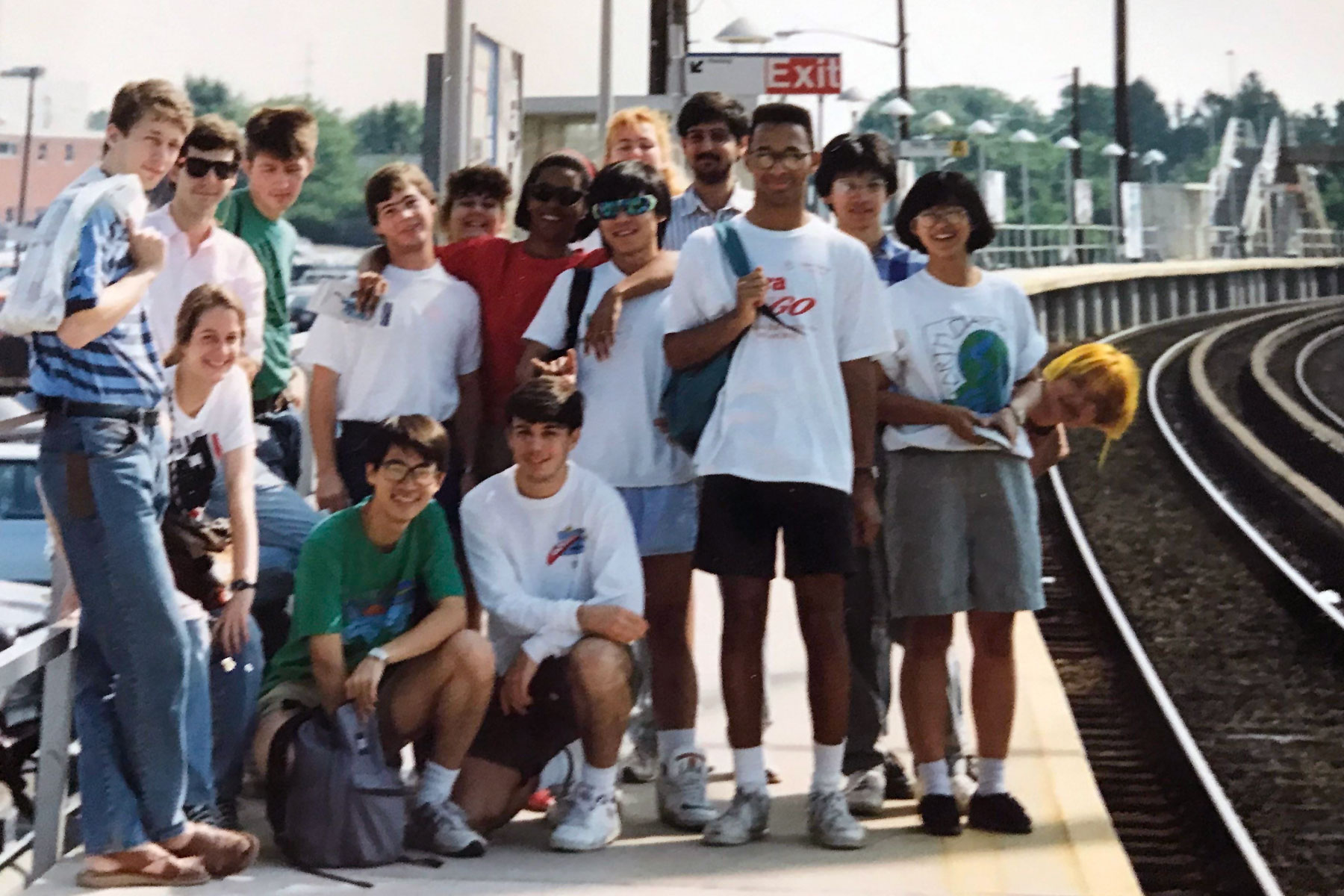 photo of 1990 URPs at Syosset train station