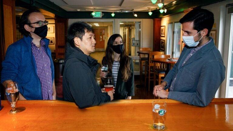 photo of Semir Beyaz, Lingbo Zhang, Hannah Meyer, and Jason Sheltzer