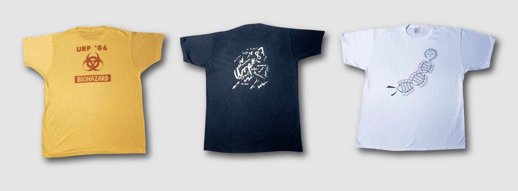 image of 3 URP t-shirts