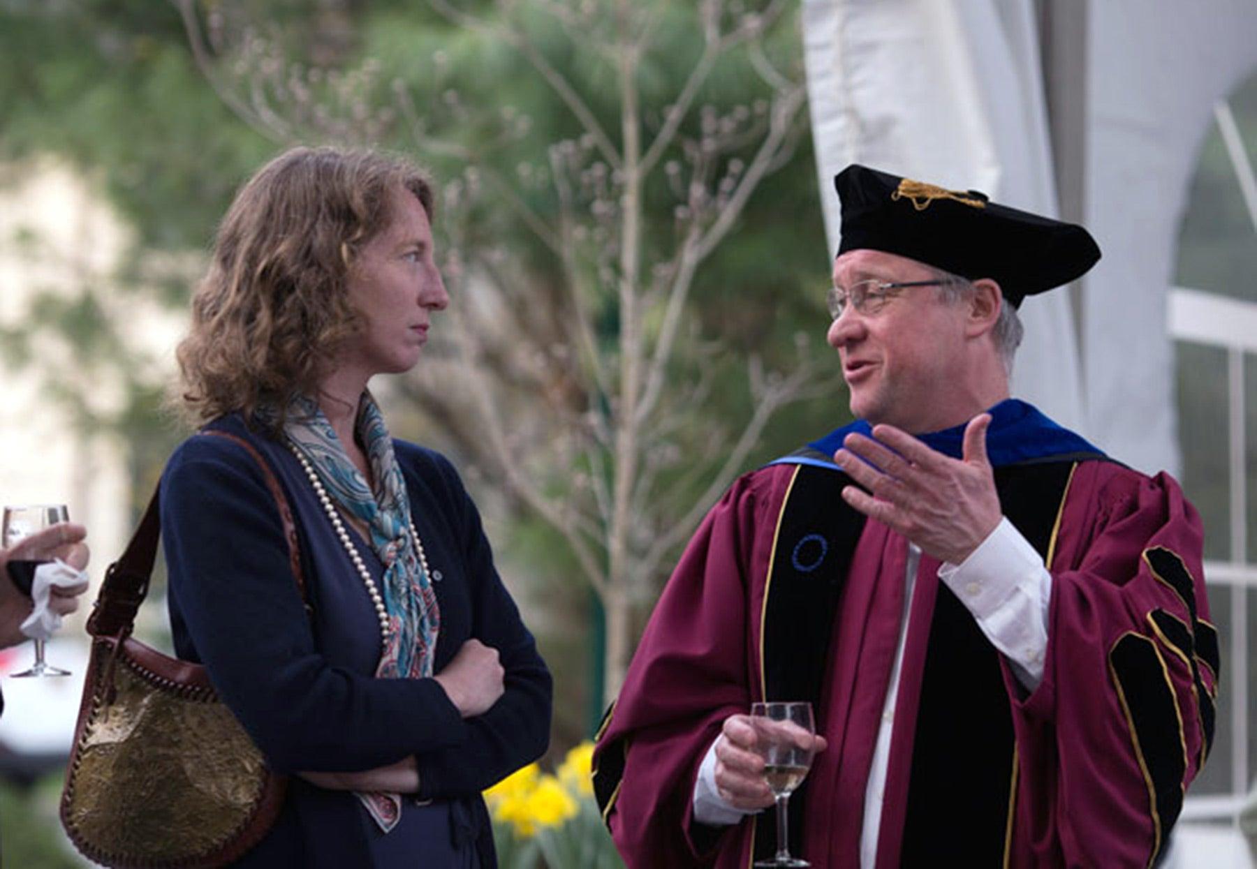 photo of former Associate Dean Carrie Cowan and Dean Alexander Gann