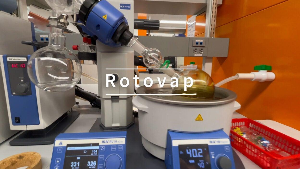 photo of the rotovap machine
