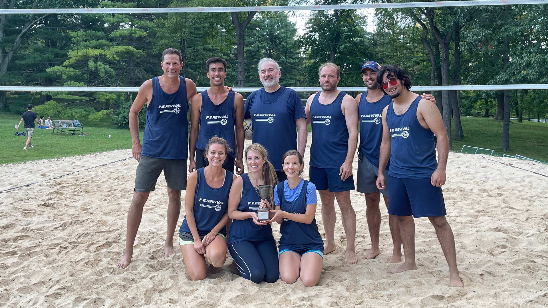 photo of the CSHL 2021 summer volleyball champions