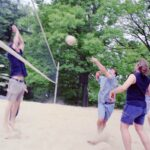 photo of volleyball participants, 2001