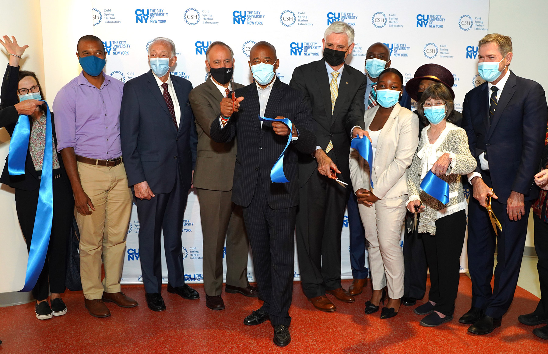 photo of the DNALC NYC ribbon cutting ceremony