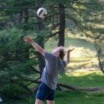 photo of Tobias Janowitz at the 2021 CSHL volleyball gane