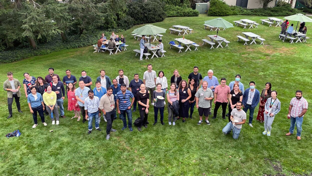 photo of CSHL Postdocs at the 2021 retreat