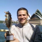 photo of Charlie Prizzi with Tiernan Cup in Australia