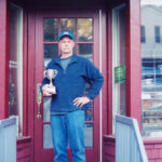photo of Peter Schwind with Tiernan Cup in Orient, NY