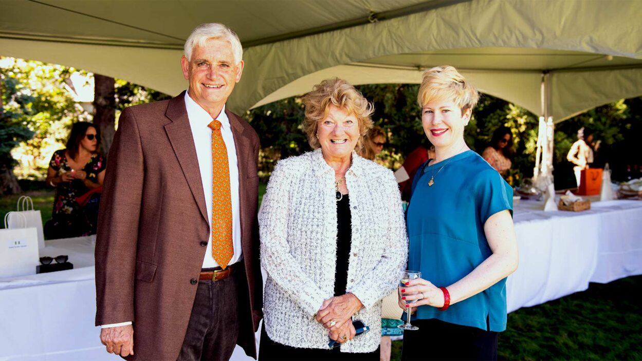 photo of Bruce Stillman, Lori Bahnik, and Jessica Tollkuhn