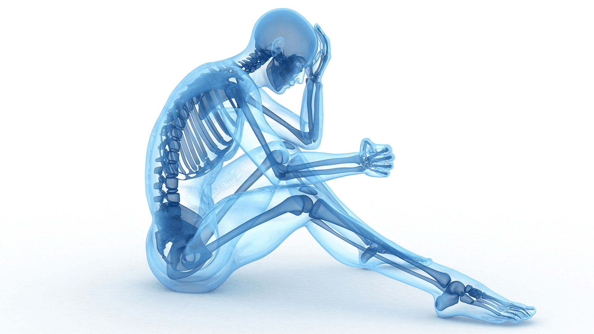 illustration of xray of a human body